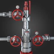 Industrial Pipes with Gauges 3d model