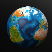 Earth HiPoly 3d model