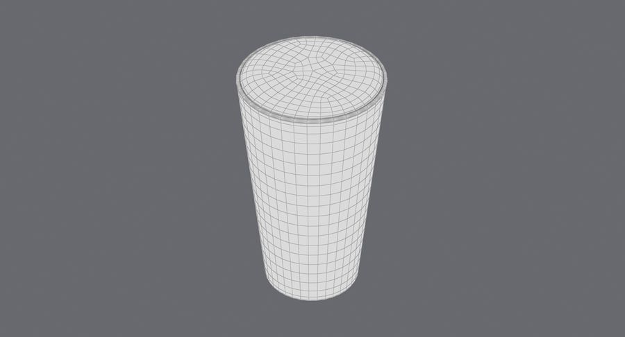 Full Pint Glass royalty-free 3d model - Preview no. 16