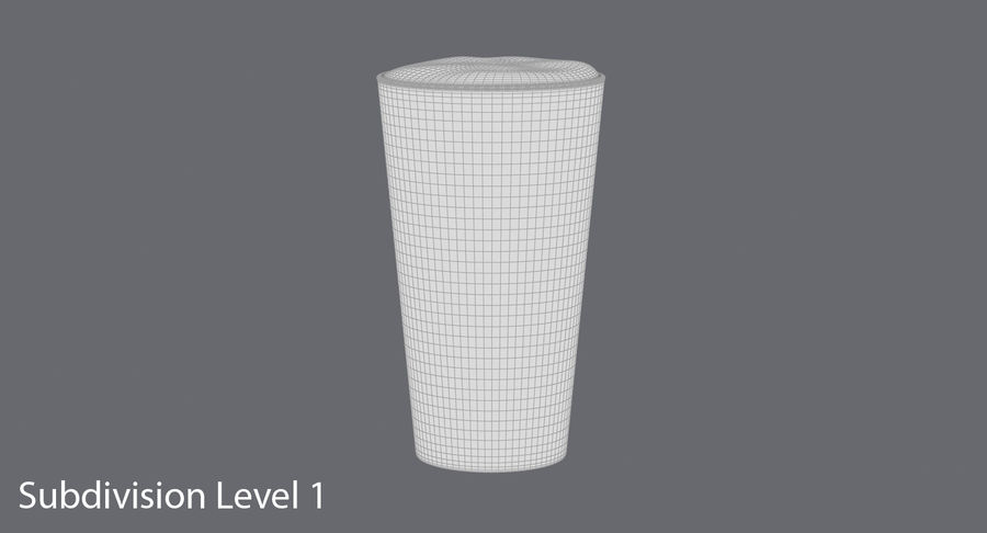 Full Pint Glass royalty-free 3d model - Preview no. 9