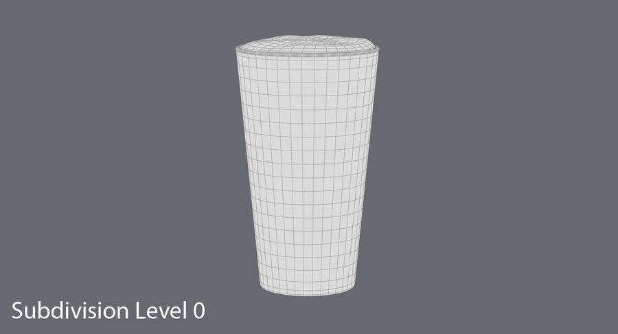 Full Pint Glass royalty-free 3d model - Preview no. 8