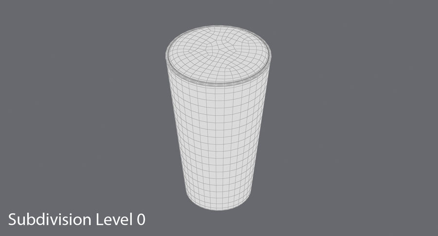 Full Pint Glass royalty-free 3d model - Preview no. 12