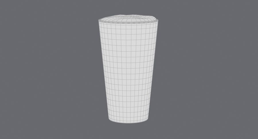 Full Pint Glass royalty-free 3d model - Preview no. 14
