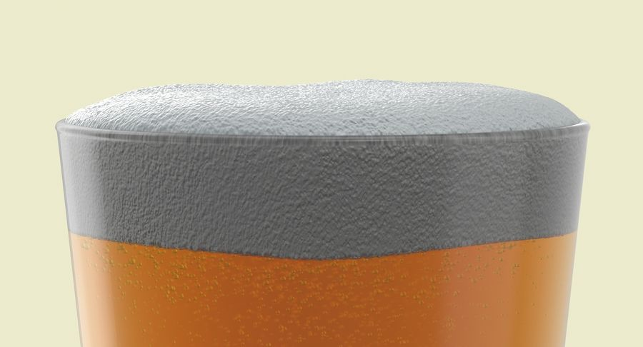 Full Pint Glass royalty-free 3d model - Preview no. 6