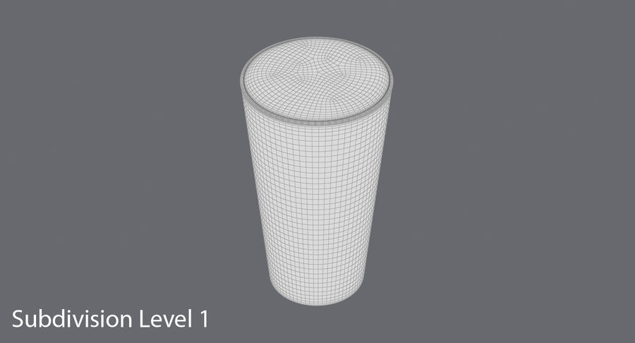 Full Pint Glass royalty-free 3d model - Preview no. 13