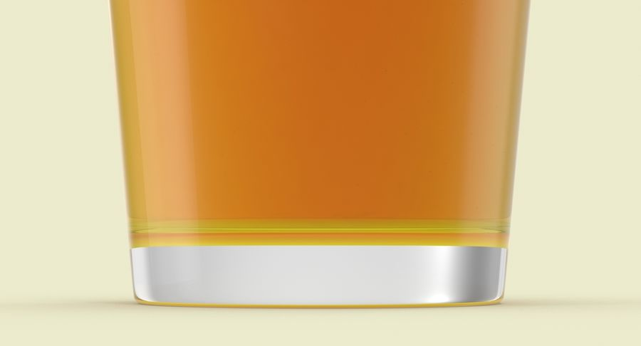 Full Pint Glass royalty-free 3d model - Preview no. 5
