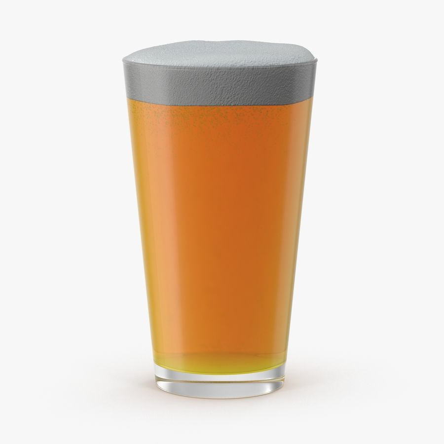 Full Pint Glass royalty-free 3d model - Preview no. 1