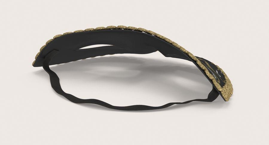 フェスティバルマスクブラック royalty-free 3d model - Preview no. 6