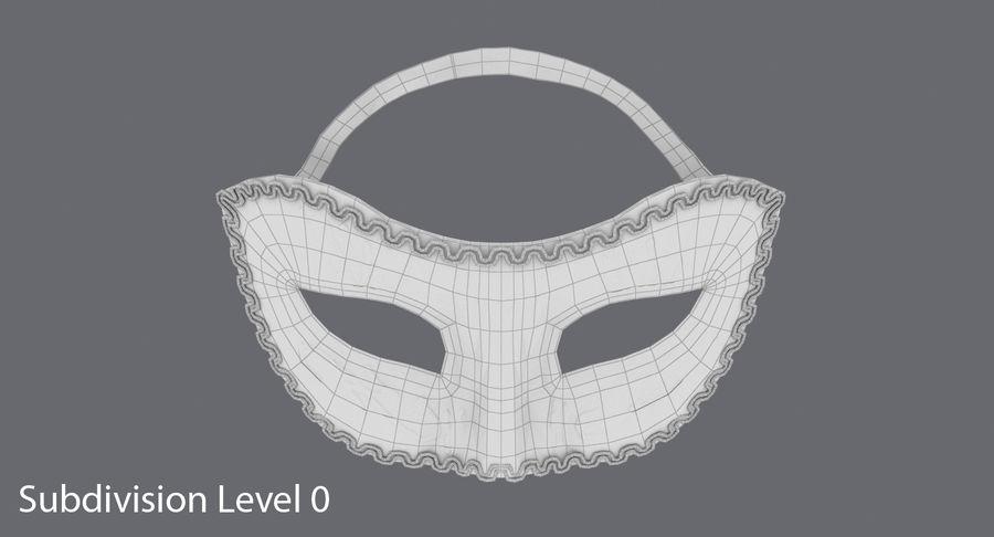 フェスティバルマスクブラック royalty-free 3d model - Preview no. 11