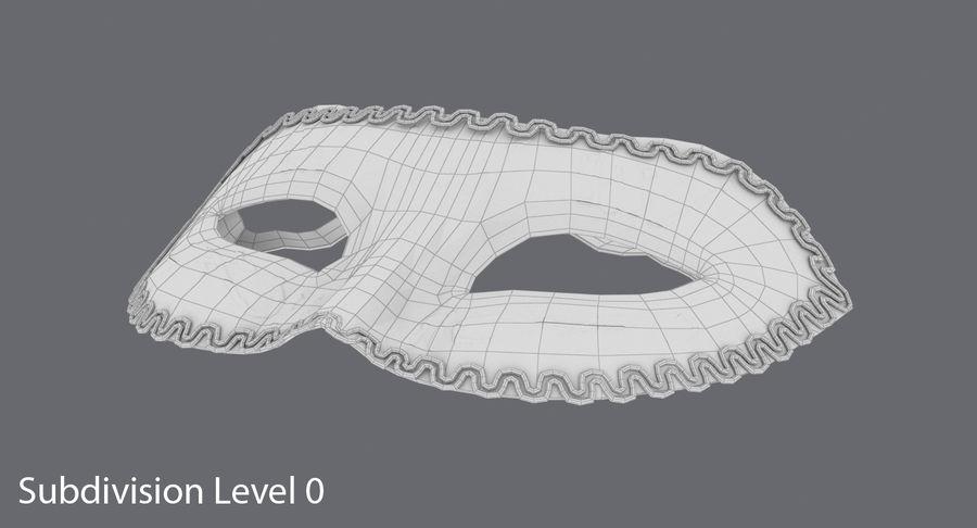 フェスティバルマスクブラック royalty-free 3d model - Preview no. 9