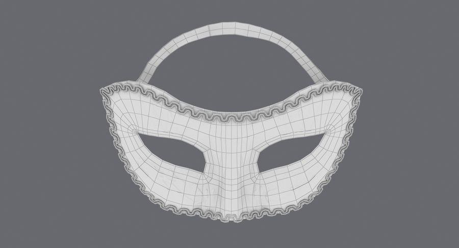 フェスティバルマスクブラック royalty-free 3d model - Preview no. 16