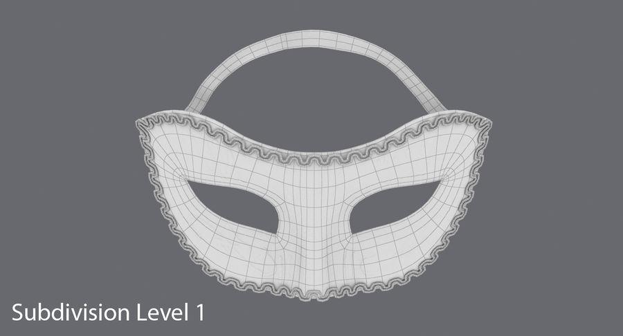 フェスティバルマスクブラック royalty-free 3d model - Preview no. 12