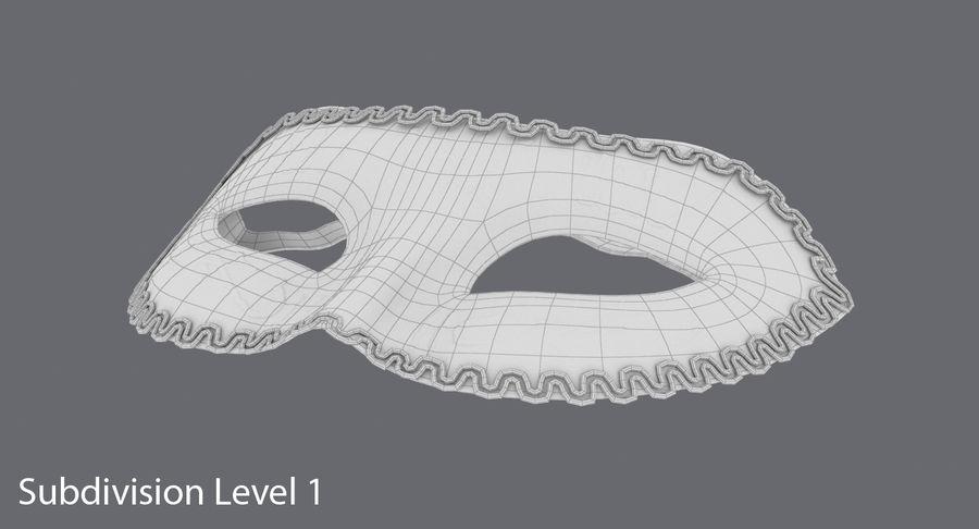 フェスティバルマスクブラック royalty-free 3d model - Preview no. 10