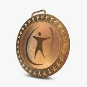 Goldmedaille Sport 3d model