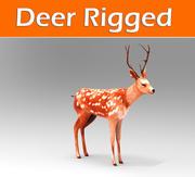 鹿のリグ付き(1) 3d model