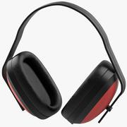 耳罩红 3d model