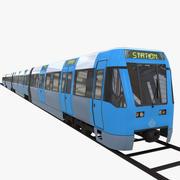 metro subway train 2 3d model