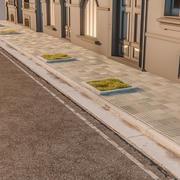 Rue trottoir balayage 3d model