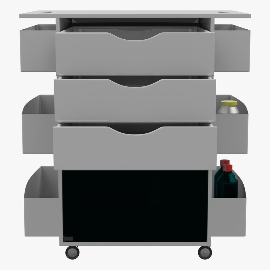 Medizinischer Wagen royalty-free 3d model - Preview no. 2