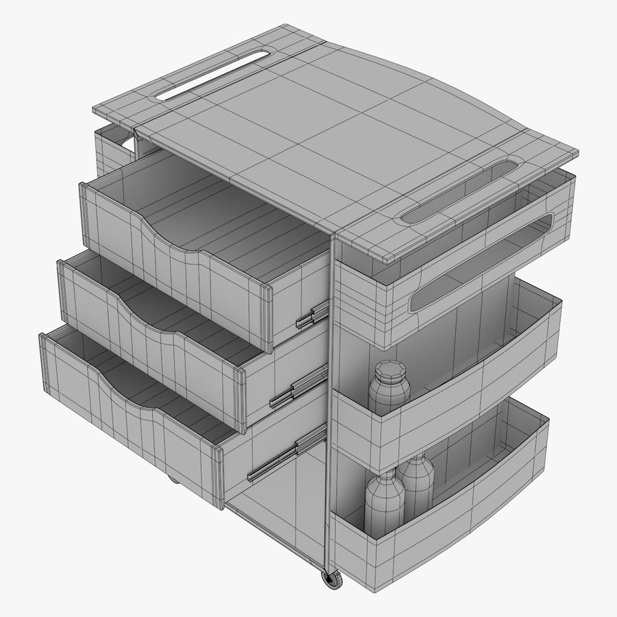Medizinischer Wagen royalty-free 3d model - Preview no. 4
