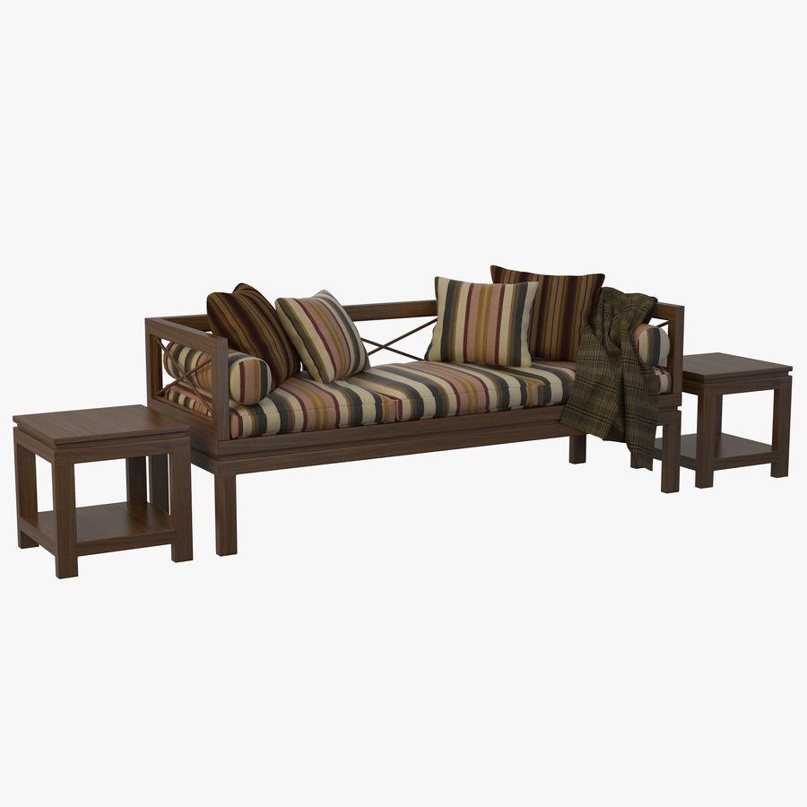 Garden Bench royalty-free 3d model - Preview no. 1