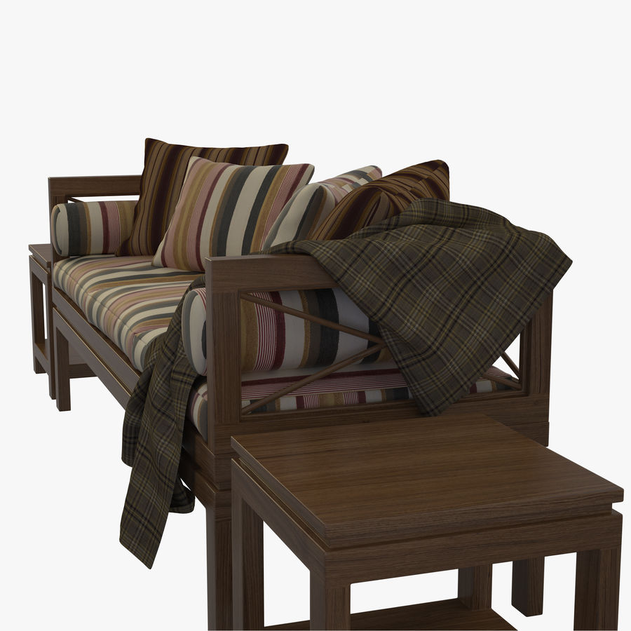 Garden Bench royalty-free 3d model - Preview no. 3