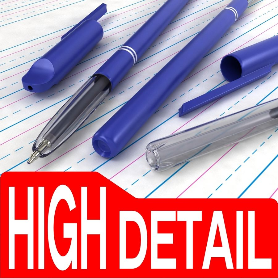 Reynolds Pen royalty-free 3d model - Preview no. 1