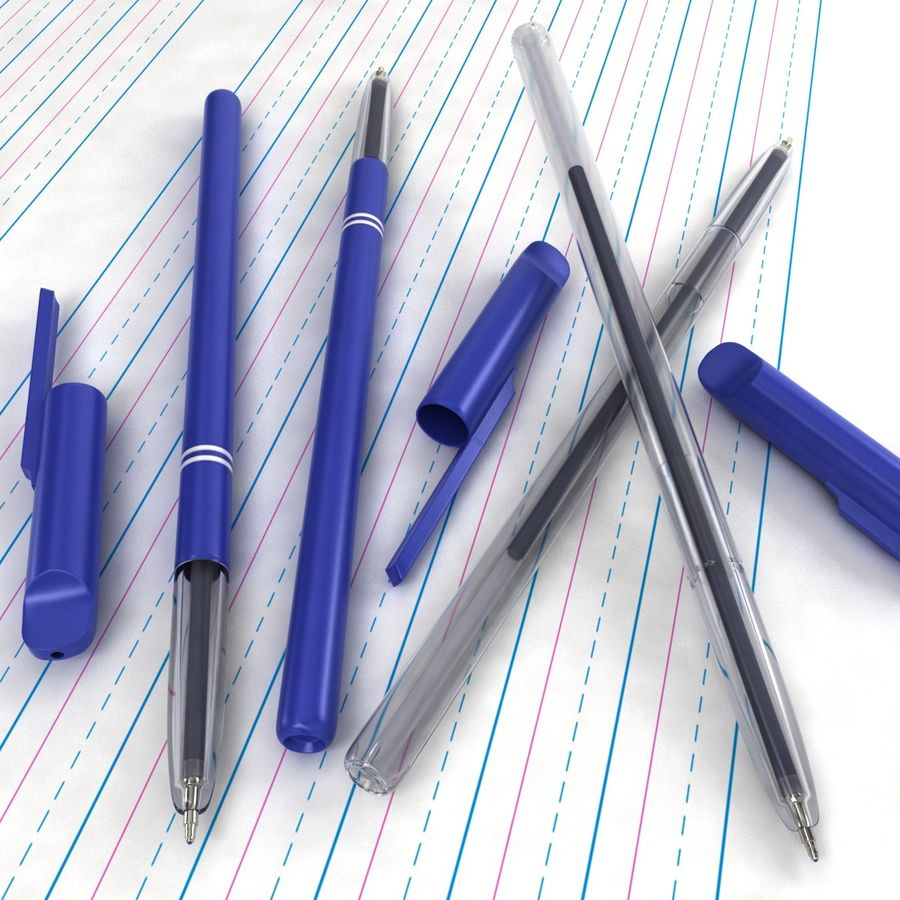 Reynolds Pen royalty-free 3d model - Preview no. 2
