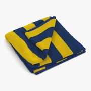 Beach Towel 2 Gelbes 3D-Modell 3d model