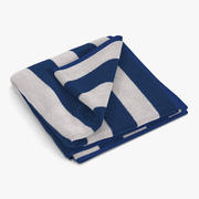 沙滩巾2白色 3d model
