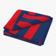 沙滩巾2红色 3d model