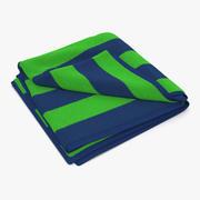 沙滩巾2绿色 3d model