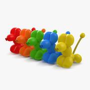 Balloon Poodles 3D Models Set 3d model