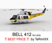 Bell 412 Skin LA 3d model