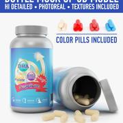 药瓶和药丸(3) 3d model