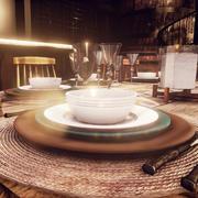 modern dinner plate sets - Unreal Engine 3d model