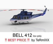 Bell 412 Czech police 3d model