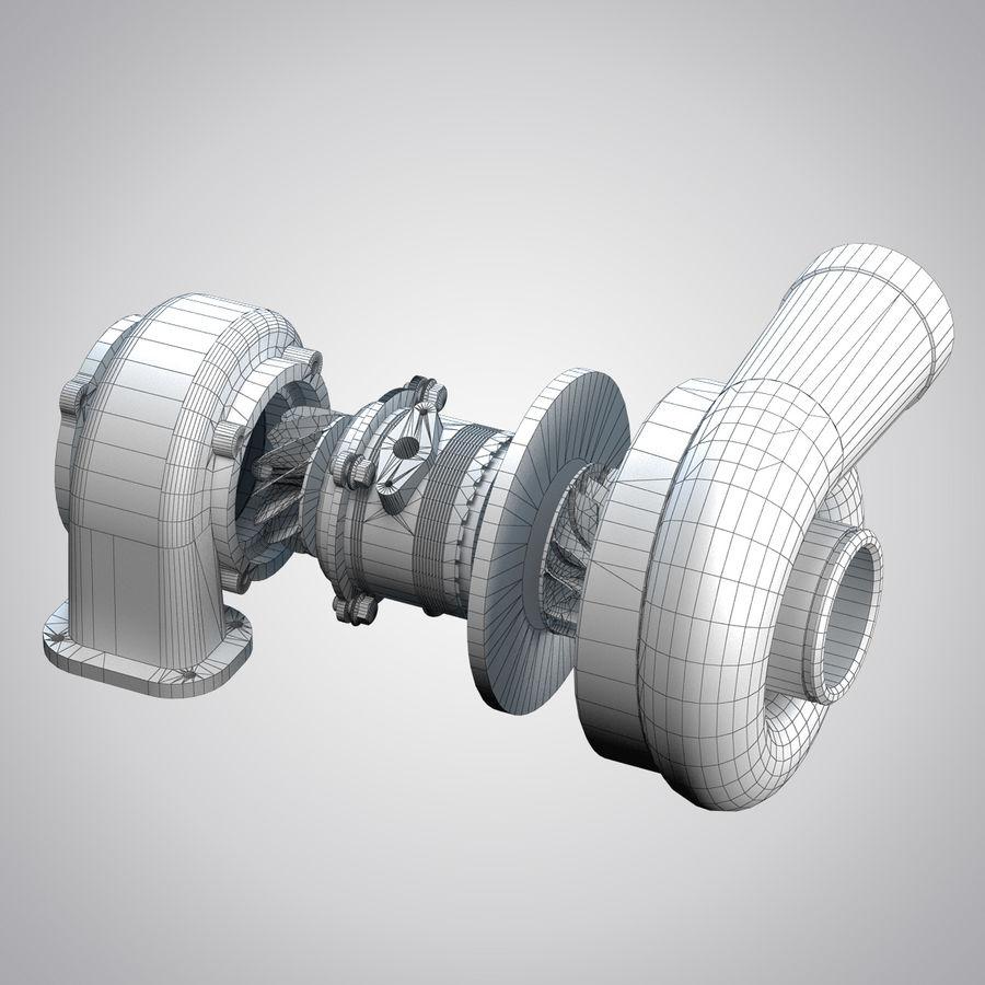 涡轮增压器 royalty-free 3d model - Preview no. 2