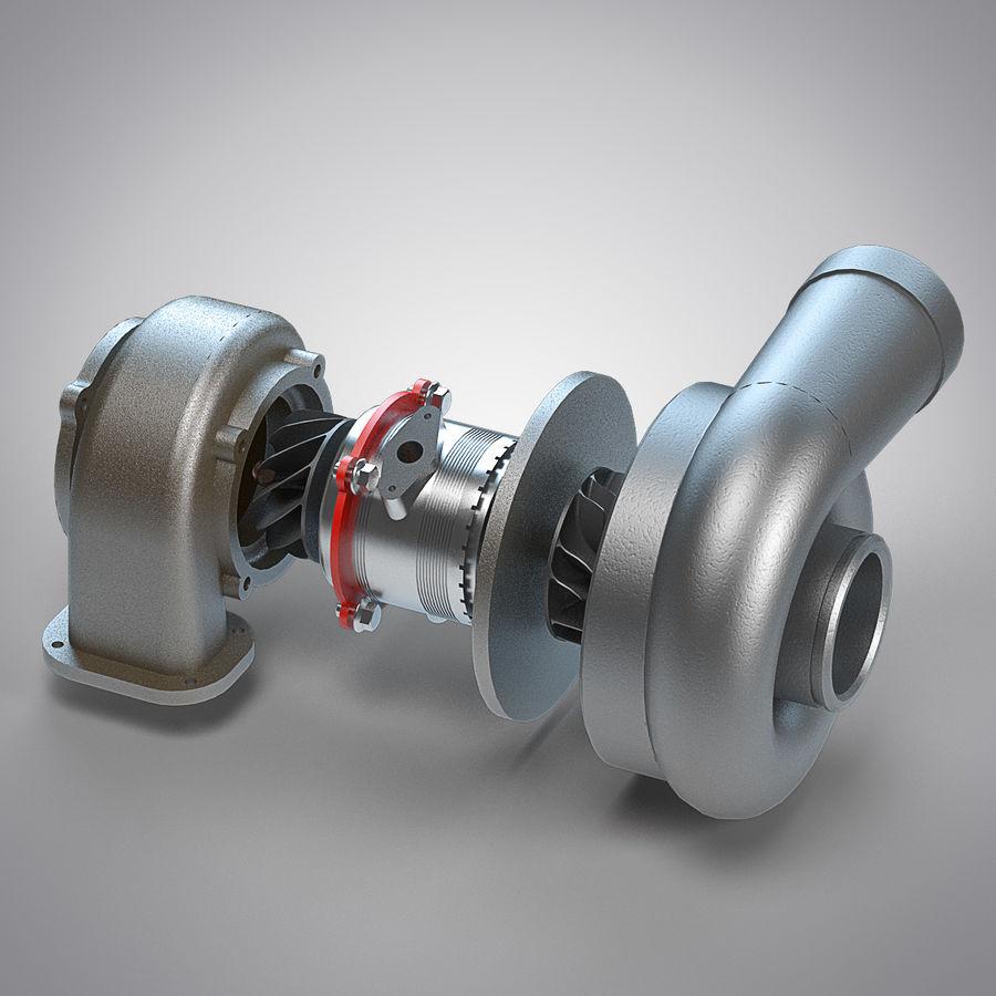 涡轮增压器 royalty-free 3d model - Preview no. 1