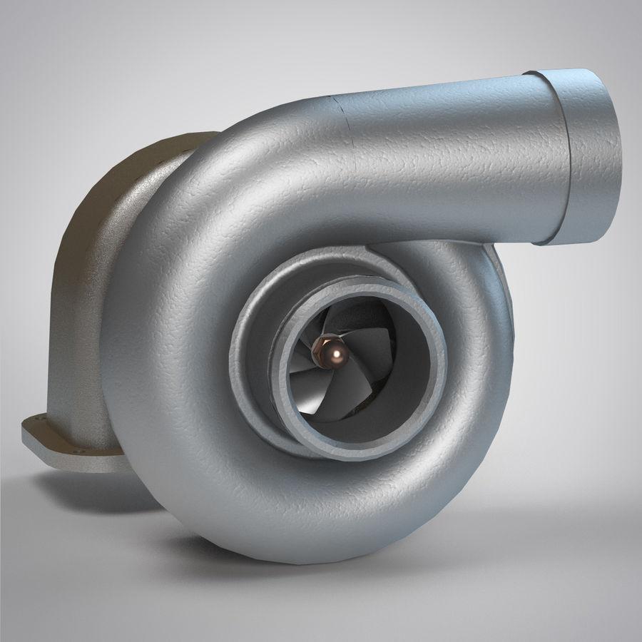 涡轮增压器 royalty-free 3d model - Preview no. 7
