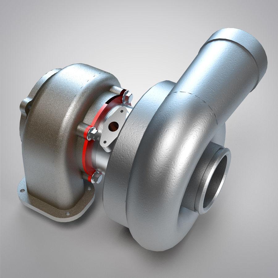 涡轮增压器 royalty-free 3d model - Preview no. 12