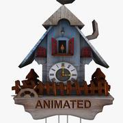 Часы с кукушкой - Анимированные 3d model