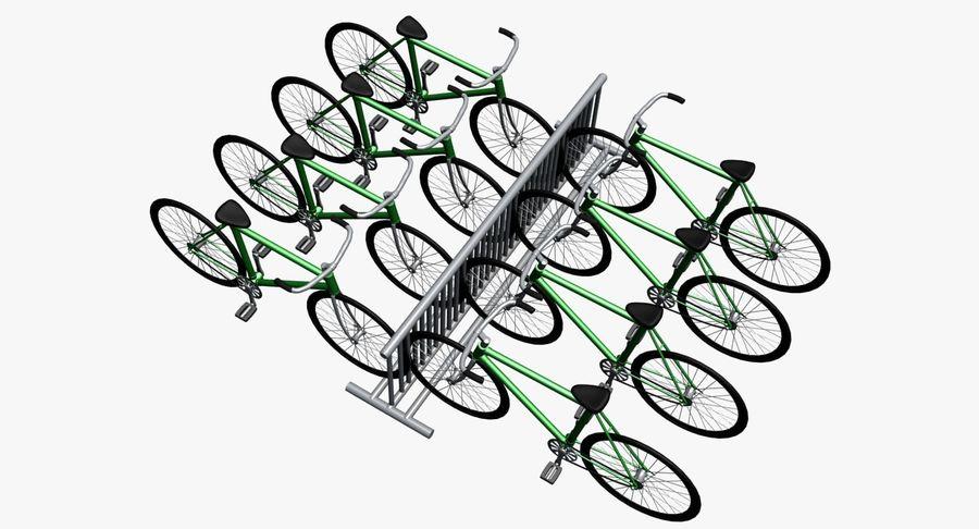 自転車と自転車ラック royalty-free 3d model - Preview no. 6