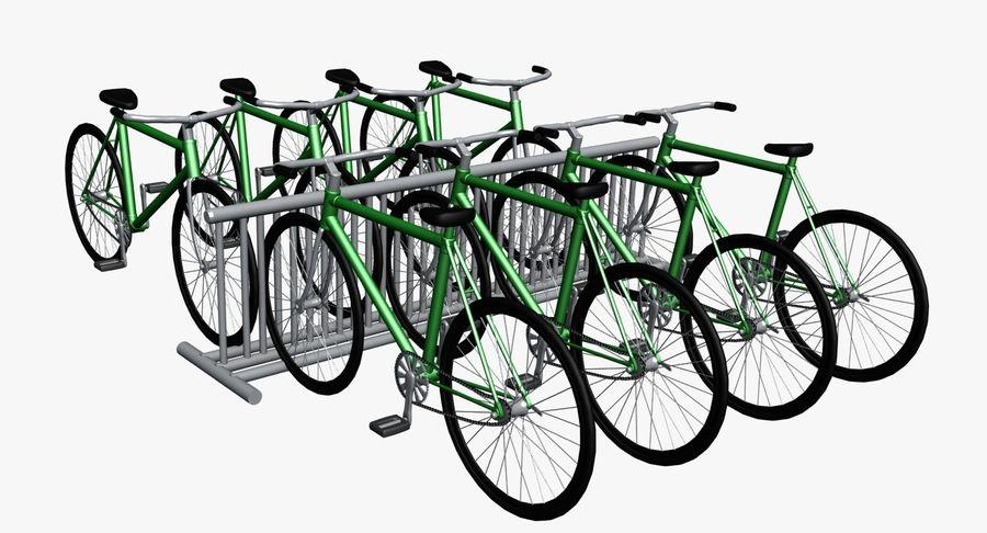 自転車と自転車ラック royalty-free 3d model - Preview no. 5