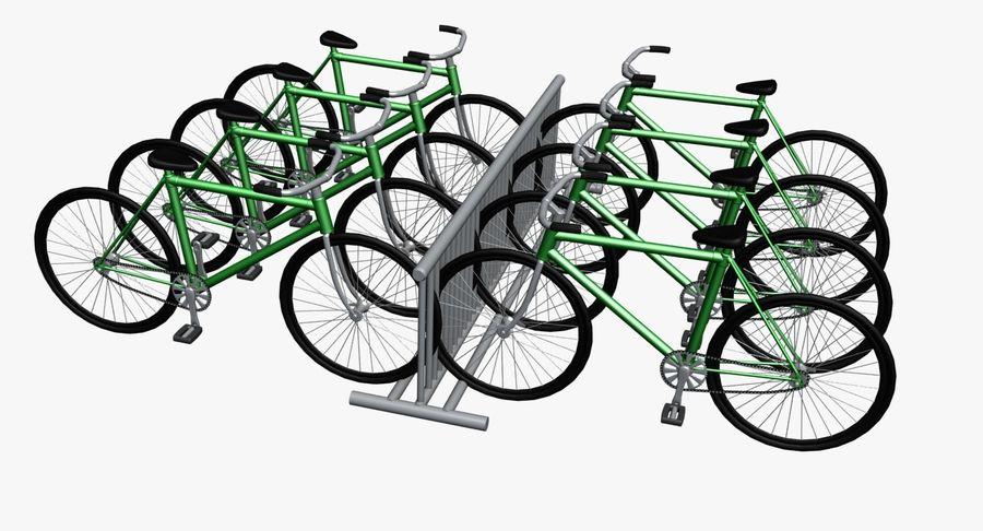 自転車と自転車ラック royalty-free 3d model - Preview no. 3