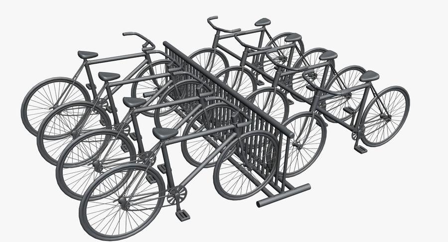 自転車と自転車ラック royalty-free 3d model - Preview no. 9