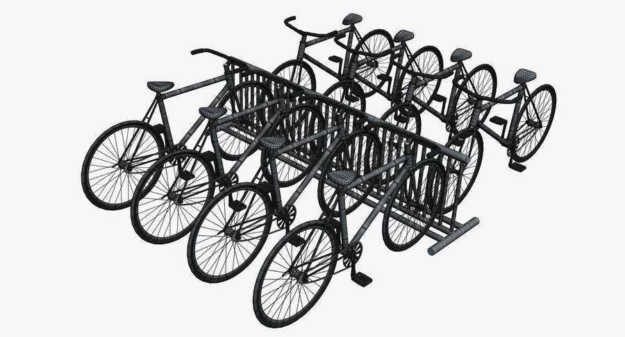 自転車と自転車ラック royalty-free 3d model - Preview no. 11