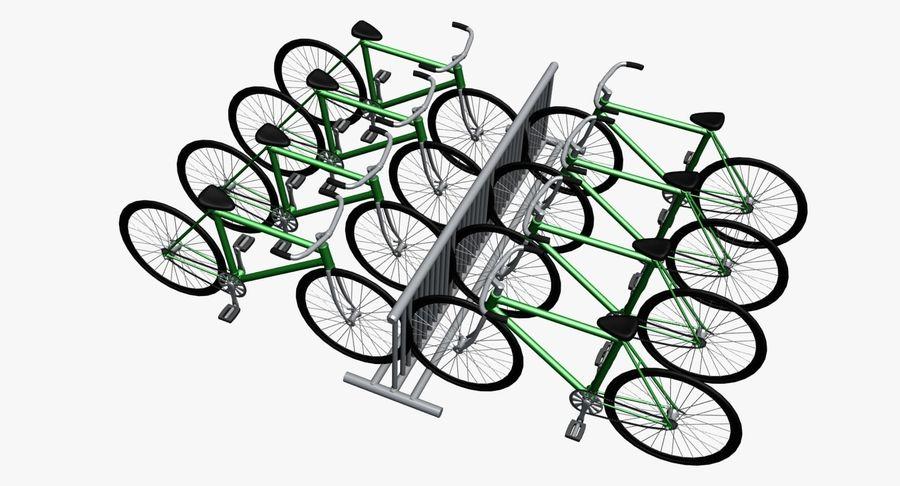 自転車と自転車ラック royalty-free 3d model - Preview no. 1
