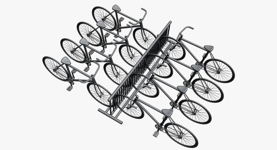 自転車と自転車ラック royalty-free 3d model - Preview no. 7