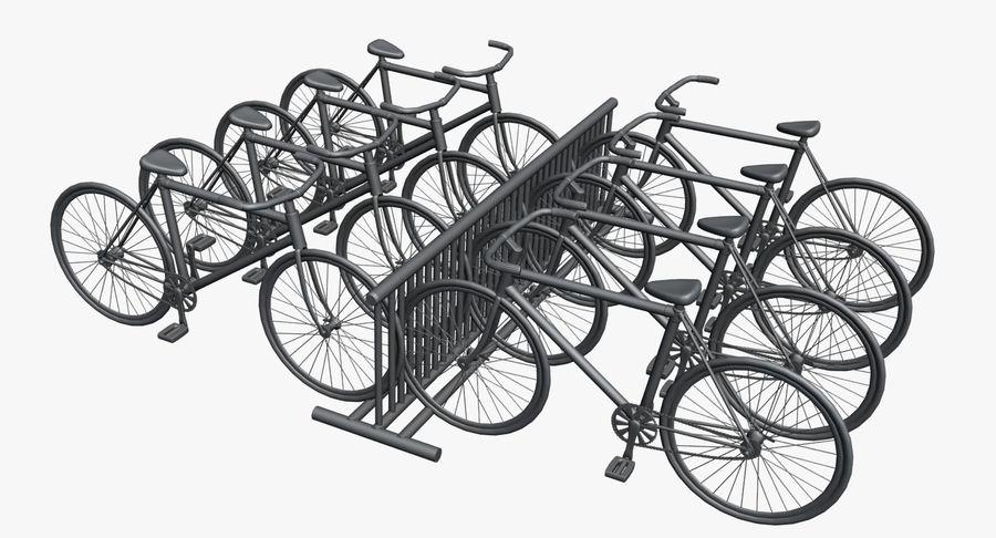 自転車と自転車ラック royalty-free 3d model - Preview no. 8